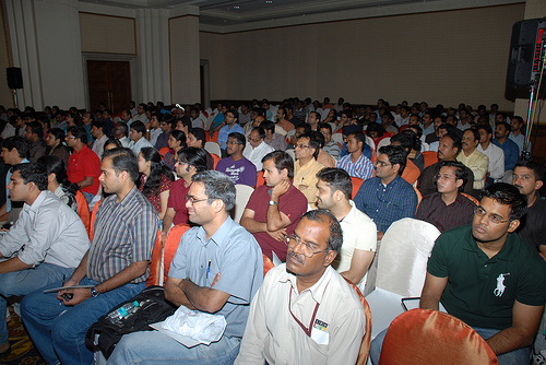 Audience at Yahoo! Big Thinkers India June 2009