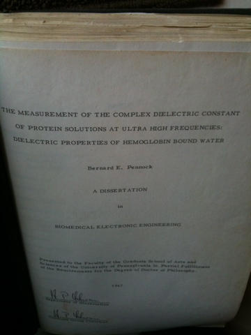 Bernie Pennock&#039;s Ph.D. dissertation 1