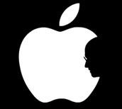 Small Apple tribute logo, created by Mak Long