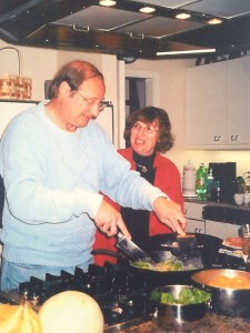 Mom and Dad cooking